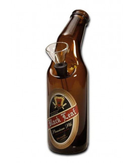 Bong de Cristal Cerveza Black Leaf - 20 cm